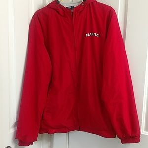 Men's/ unisex Marist college red lined jacket, L